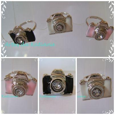 Anel câmera rosa importado